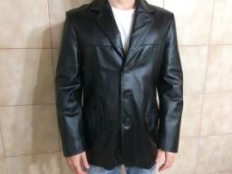 Blazer masculino em couro legítimo