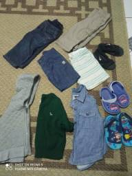 Lotinho roupas e sapatos Menino veste até 1 ano
