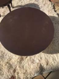 mesa redonda de fórmica perna metal