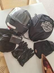 Título do anúncio: capacete Harley Davidson escamoteavel