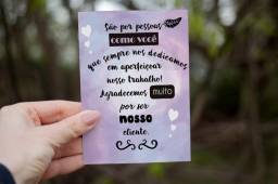 Cartão de agradecimento ao cliente
