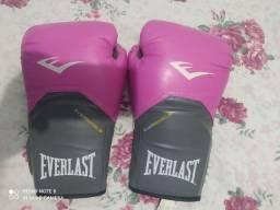 Luvas Boxe Everlast Pro 14oz - Rosa