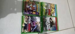 Xbox one s + 4 jogos originais + Kinect + adaptador
