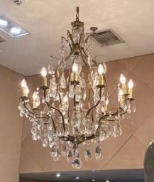 Título do anúncio: Lustre de cristal 18 lâmpadas