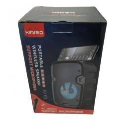 Caixa De Som KM-2002 Kimiso Sipot USB Tf Aux Were 15X11X23CM