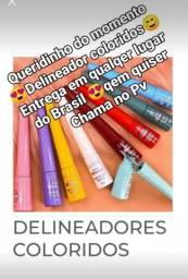 Vendo delineadores coloridos