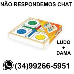 Título do anúncio: Jogo Ludo e Damas - Caixa em Madeira - Fazemos Entregas