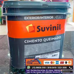 Chegou Cimento Queimado em nossas Lojas. Para usar dentro e fora de casa!
