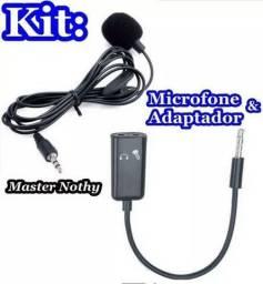 MICROFONE + ADAPTADOR P3