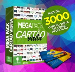 MEGA PACOTE CARTÃO DE VISITAS COREL DRAW EDITÁVEL