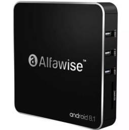 Lançamento Tv box Alfawise 4K Ultra Hd, 2Gb Ram/16Gb Rom, Android 8.1