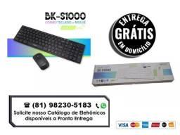 Kit Mouse + Teclado Wireless S/ Fio 2.4ghz Exbom - Gratis a Entrega