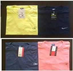 Sacoleiras - 50 Camisetas 26.1 Gola V e Redonda - Marcas Famosas Frete Grátis