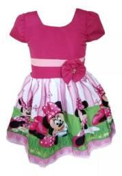 Vestido temático infantil NOVO