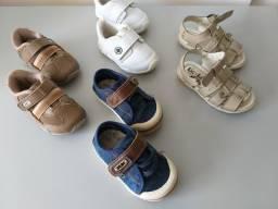 3 pares de tênis tamanho 19 KLIN e Kidy e 1 sandália tamanho 20 (menino)