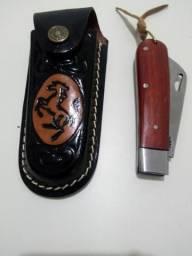 3e874e5fb23 Conjunto canivete com bainha de couro