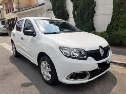Renault Sandero Authentique 1.0 Flex Completo Branco 2017