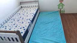 Cama Infantil Babá com auxiliar Júlia Carolina Baby Amadeirado Rústico