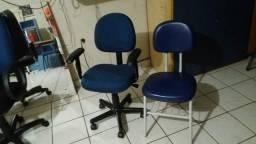 Cadeira giratória digitador para estudo