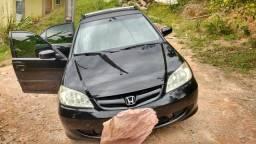 Honda Civic preto lxl 2004 - 2004