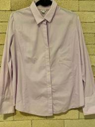 Camisa social acinturada de botão calvin klein