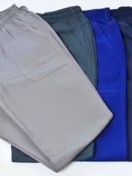 Uniforme Calça Azul e Cinza