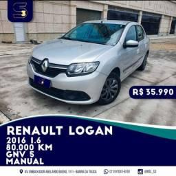Renault Logan 1.6 GNV 2016 R$35.900