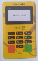 Maquininha de cartão com dois chips