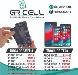 Troca de tela e bateria iphone