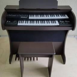 Órgão Eletrônico Rohnes Onix Plus Marrom Fosco NOVO