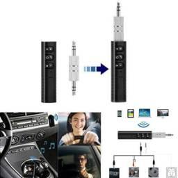 Adaptador Receptor de Áudio Estéreo Para Carro, Fone e Smartphone Bluetooth