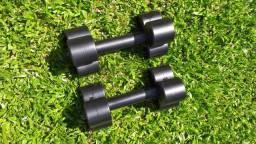 Halteres de 10kg para musculação