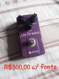 Pedal Distorção JOYO US Dream com fonte
