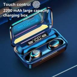 TWS F9 V5.1 Fones de Ouvido Bluetooth A Prova D'água Touch Display LED