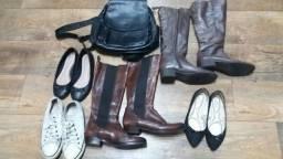 Lote Botas e Sapatos 37 P/ Brechó - Bazar Otimo Estado!<br>