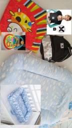 Lote de roupa e itens de bebê