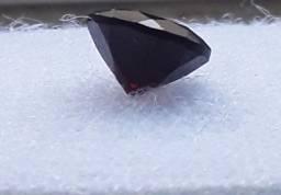 Rubi Natural Redondo Lapidado em Brilhante