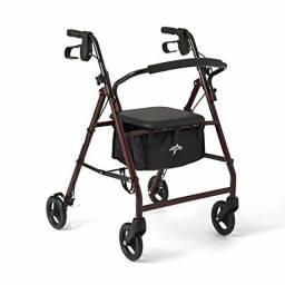 Título do anúncio: Andador Adulto Com Assento - Cesta - 4 Rodas (suporta 159kg)