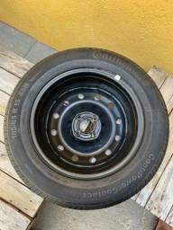 Título do anúncio: Vendo 4 pneus cada um de uma medida todos novos zero com rodas