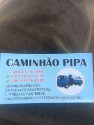 Disk água potável caminhão pipa