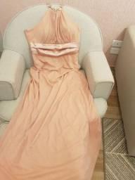 Vestido festa rosa envelhecido