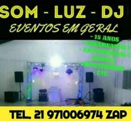 SOM LUZ DJ PARA EVENTOS EM GERAL