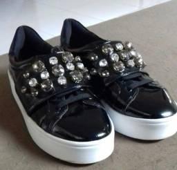 Tenis sapatinho de luxo preto