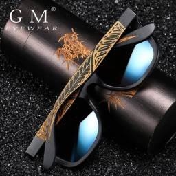 Oculos madeira bamboo importado