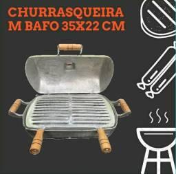 Título do anúncio: Churrasqueira M bafo 35x22 alumínio