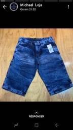 Bermudas jeans tamanho 46