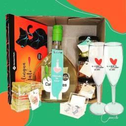 Dia dos Namorados - caixa, cesta, Gift Box, vinho