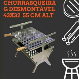 Título do anúncio: Churradura desmontável G 43x32 brinde + frete