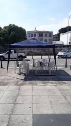 Aluguel tendas mesas e cadeiras madeira plastico