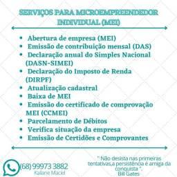 Serviços para Microempreendedor Individual MEI